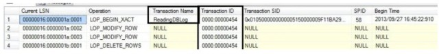 View SQL Server Transaction Log