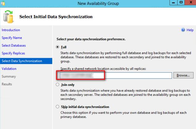 Configure AlwaysOn Availability Groups