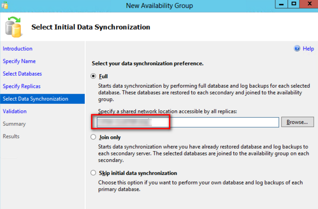 Configure AlwaysOn Availability Groups