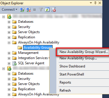 New Availability Group Wizard