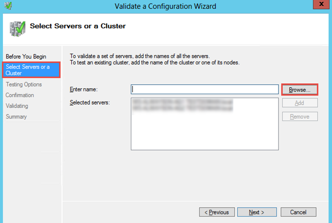 Validate Configuration Wizard